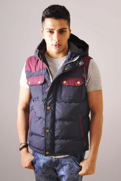 Duffle Gilet With Tweed Lining